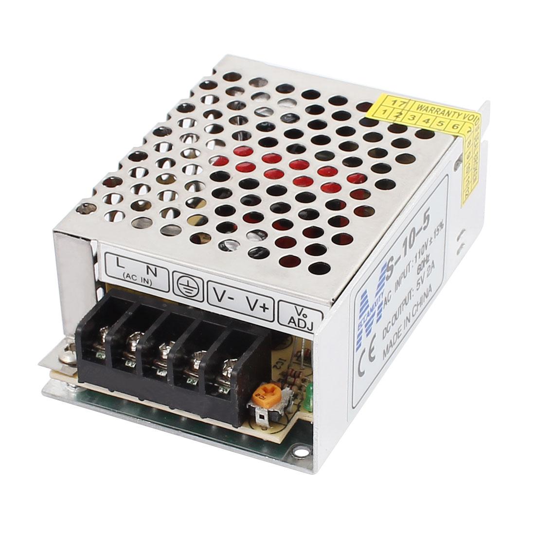 Switch Power Supply Driver for LED Strip Light AC 110/220V 5V 2A 10W