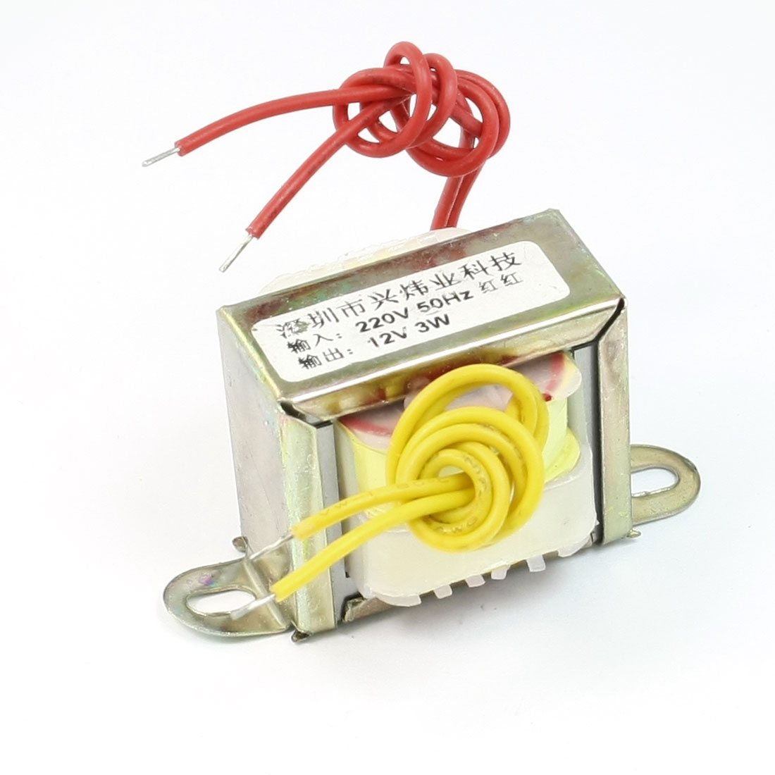 220V 50Hz Input to 12V 3W Output EI Core Single Phase Power Transformer