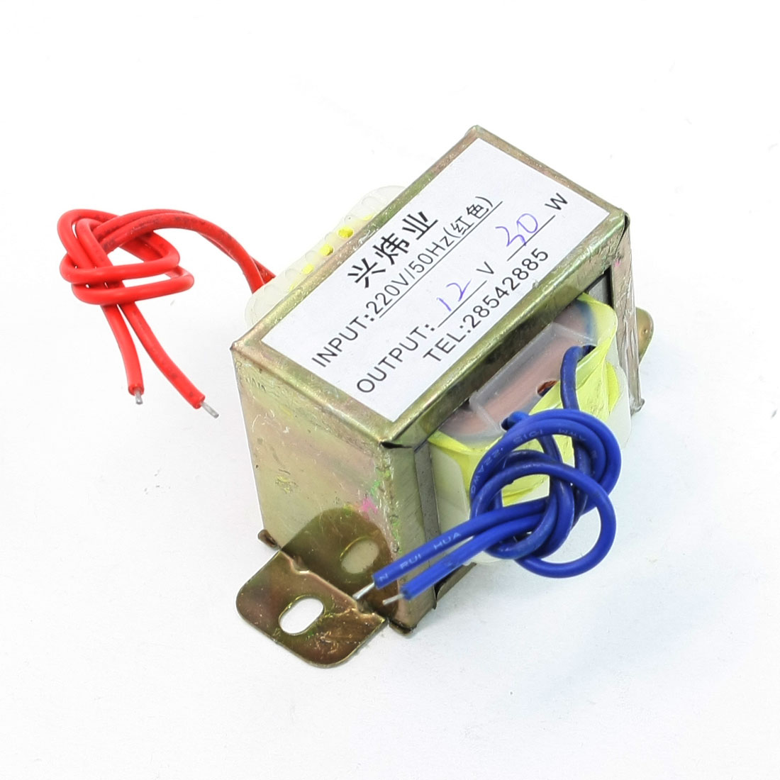 220V 50Hz to 12V 30W Ferrite Core Vertical Single Phase EI Power Transformer