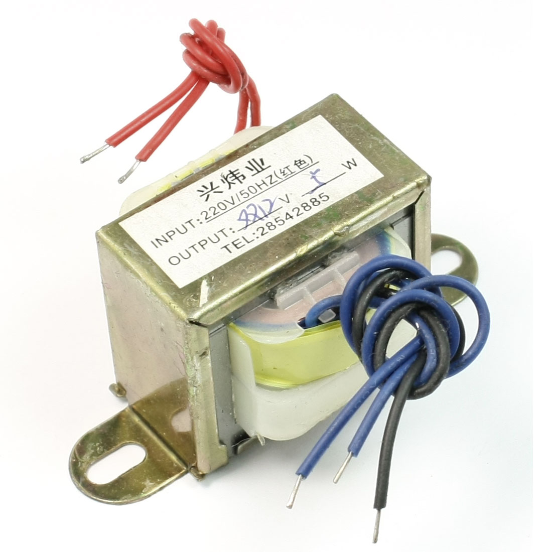 220V 50Hz Input to 12V 5W Output EI Core Double Phase Power Transformer