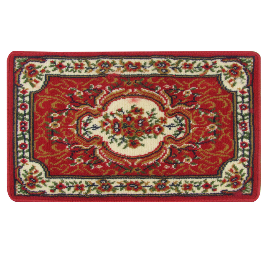 71cm x 45cm Rectangular Flourish Pattern Living Room Floor Carpet Area Rug Pad