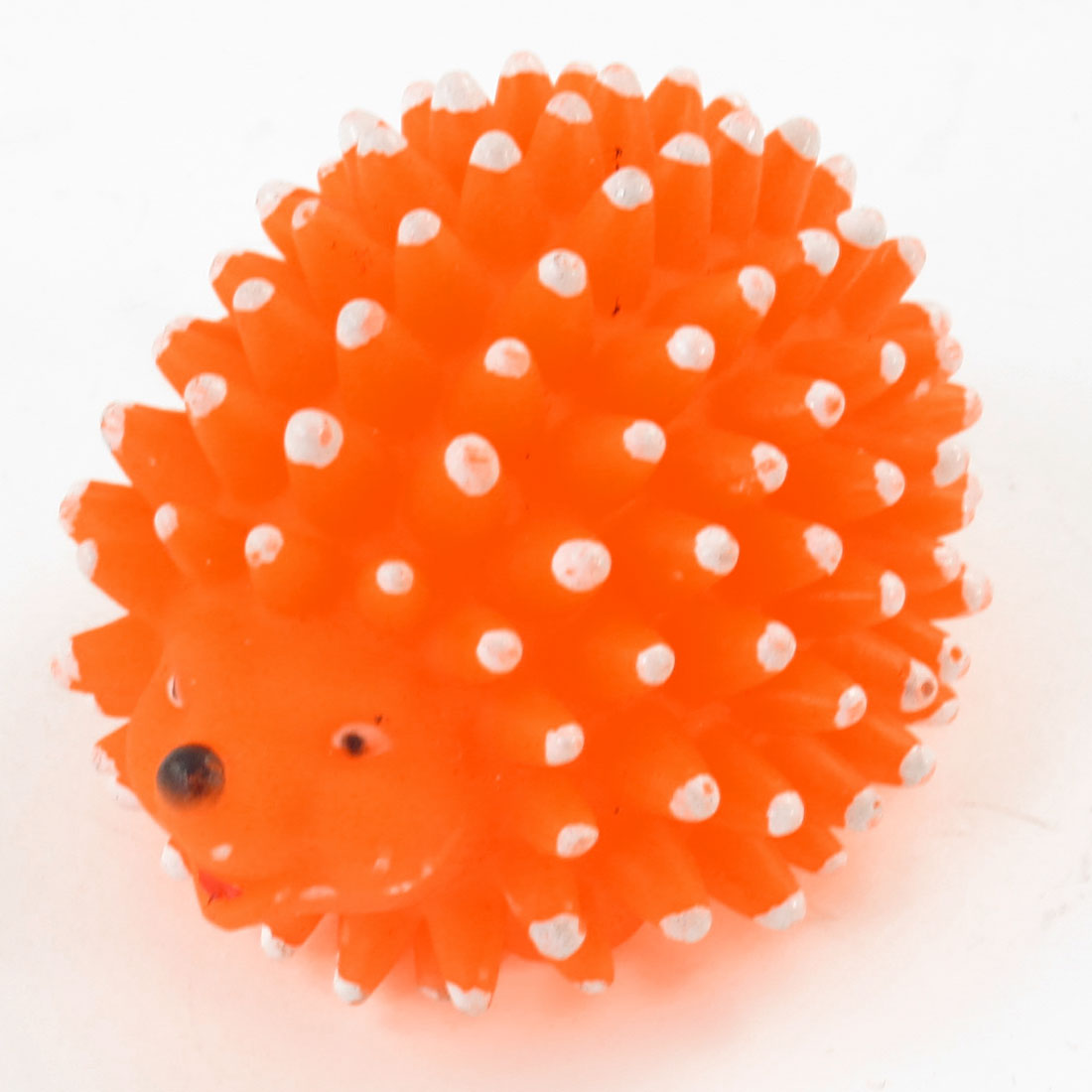 Orangered Vinyl Rubber Hedgehog Design Sound Squeaky Toy for Pet Dog Puppy