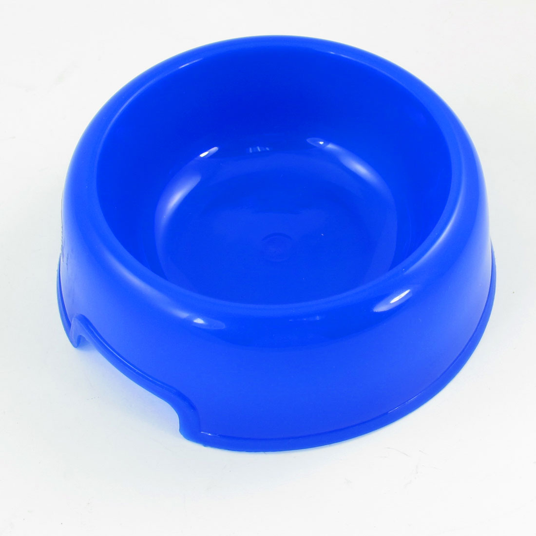 "5.5"" Dia Bottom Doggie Dog Pet Plastic Slow Food Water Bowl Blue"