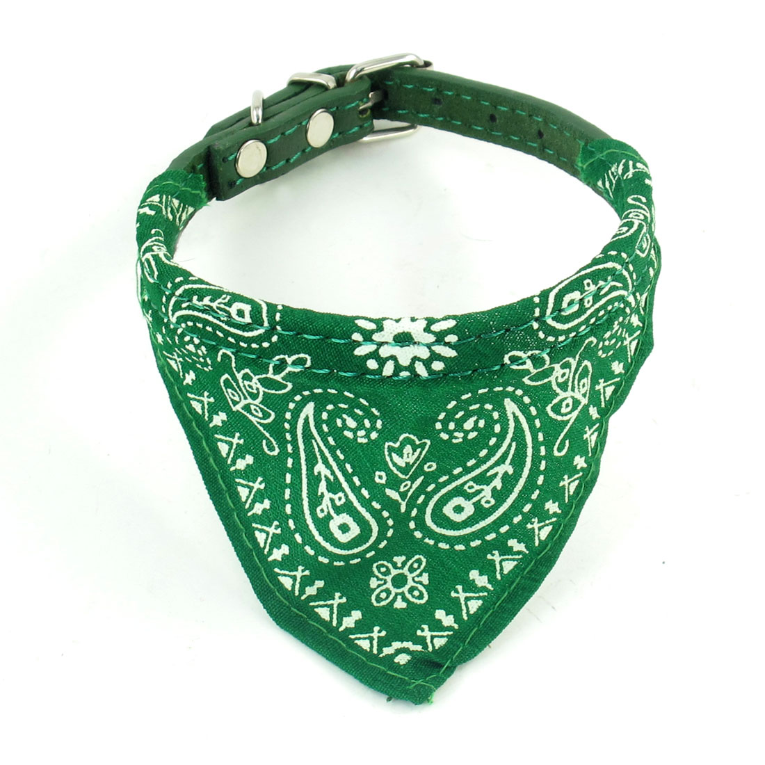 Pet Dog Doggie Adjustable Belt Triangle Scarf Bandana Collar Necklaces Green