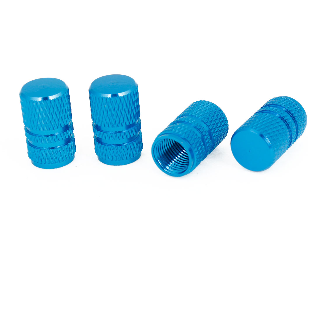 4 Pcs Turquoise Metal Tire Tyre Valve Cap Cover for Auto