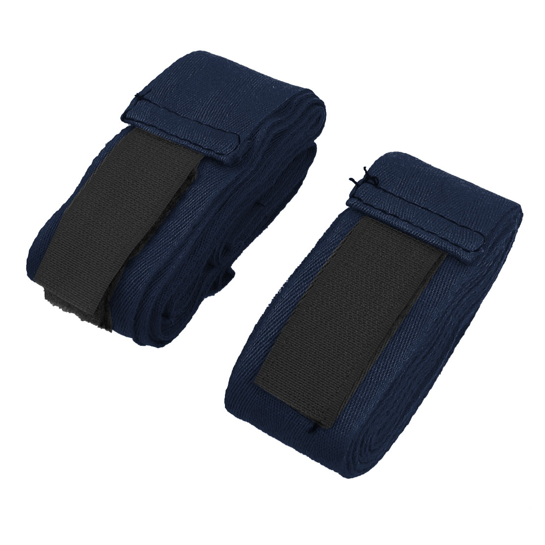 2.3M Long Textured Hand Wraps Strap Boxing Bandage Navy Blue 2 Pcs