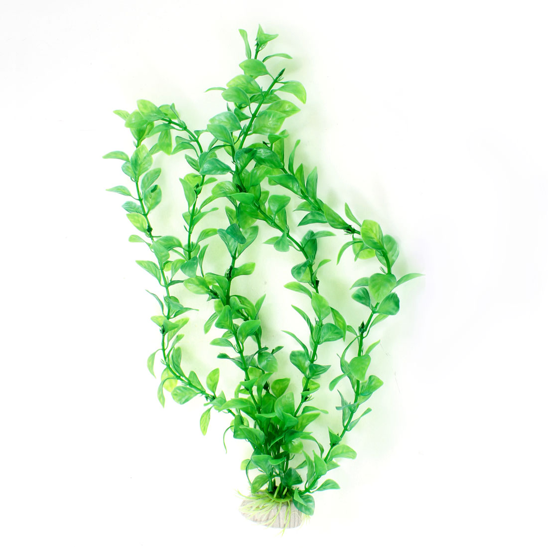 "14"" Height Green Plastic Aquatic Plant for Fish Tank Fishbowl Decoration"