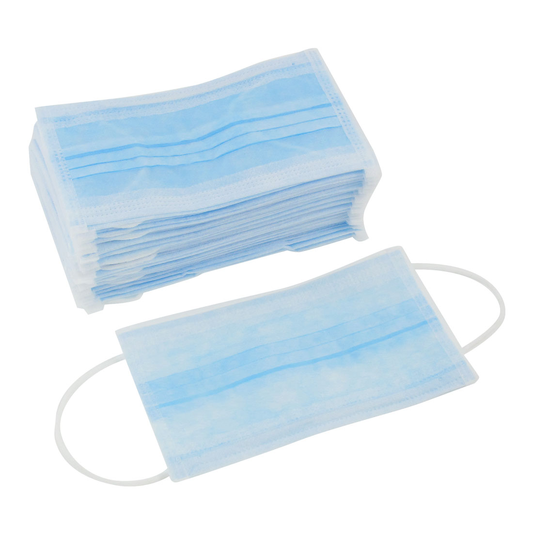 45 Pcs Blue Mouth Face Protective Disposable Masks