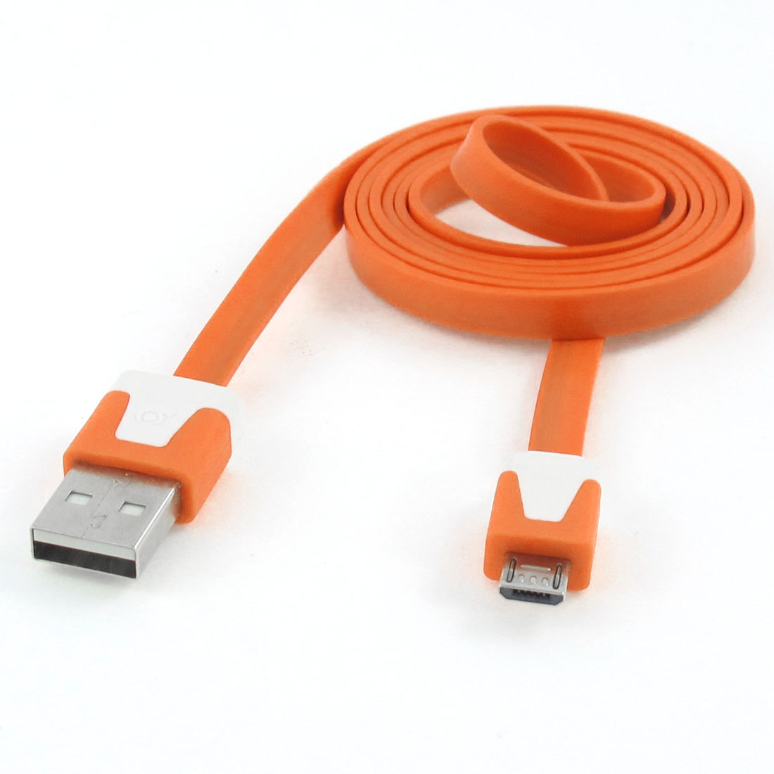 1M Orange USB Type A to Micro 5 Pin USB PC Data Changer Cable Line