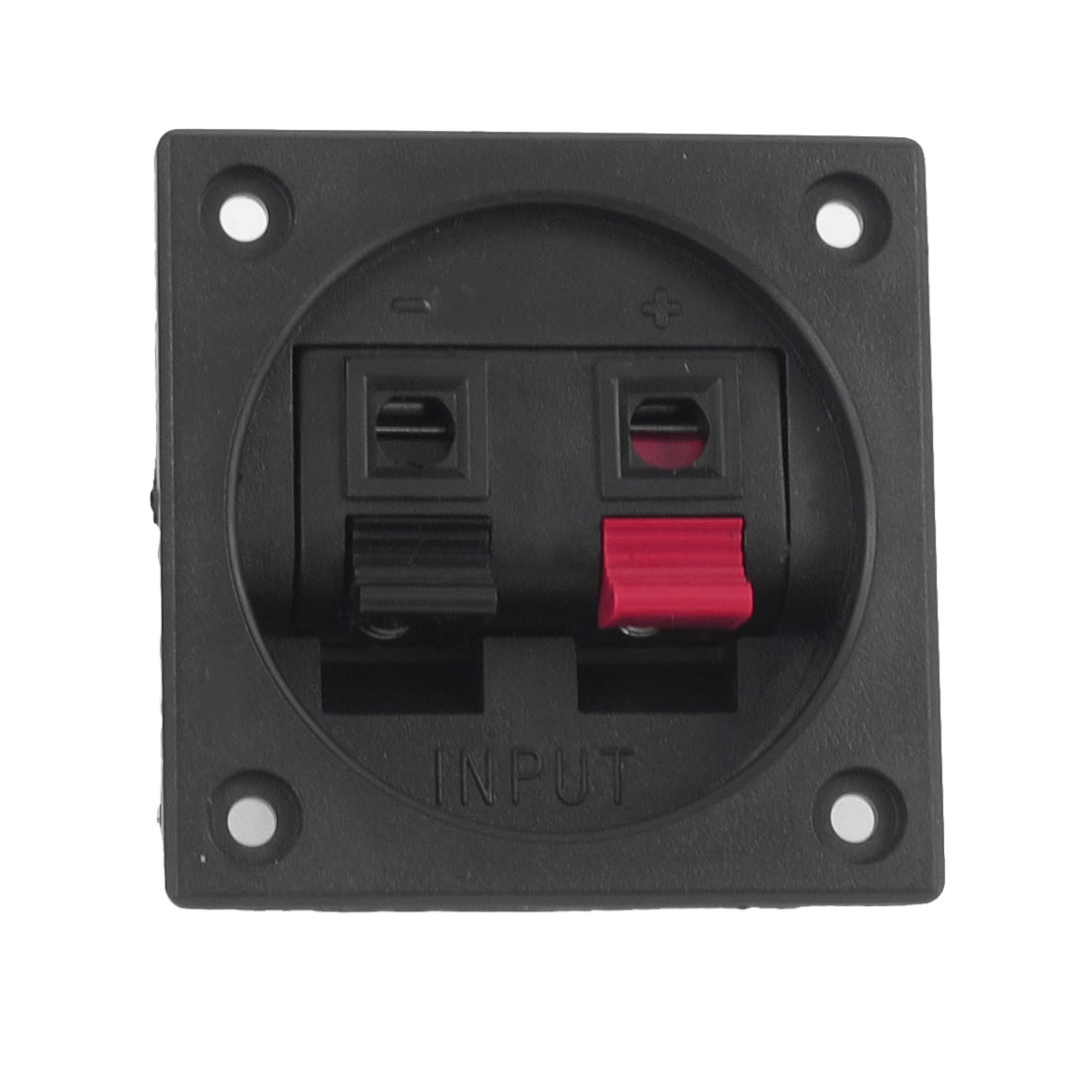 Red Black Push In Type Square Shaped Speaker Terminals Plate 2 Position