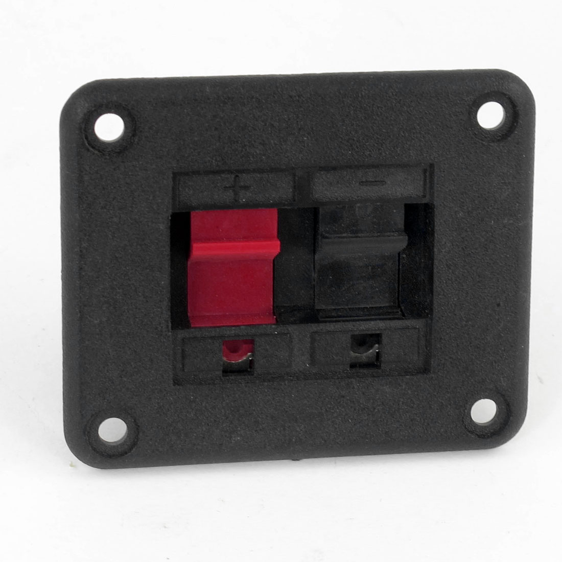 Horizontal Mounted 2 Position 2 Terminals Speaker Terminals Connector Red Black