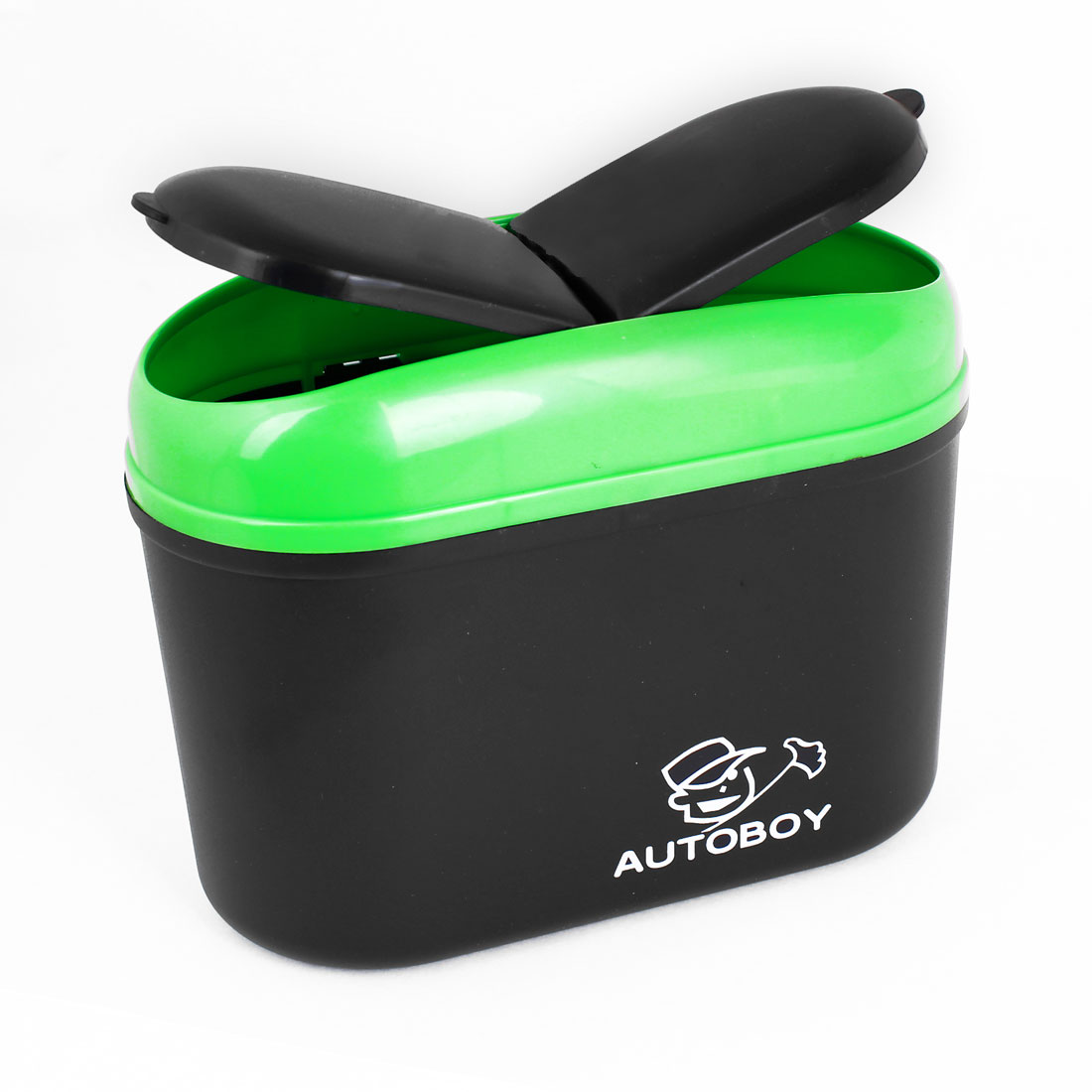 13cm Height Black Green Plastic Trash Rubbish Container for Car