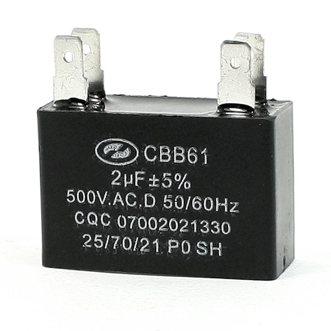 AC 500V 50/60Hz Motor Running PO SH Capacitor 2uF