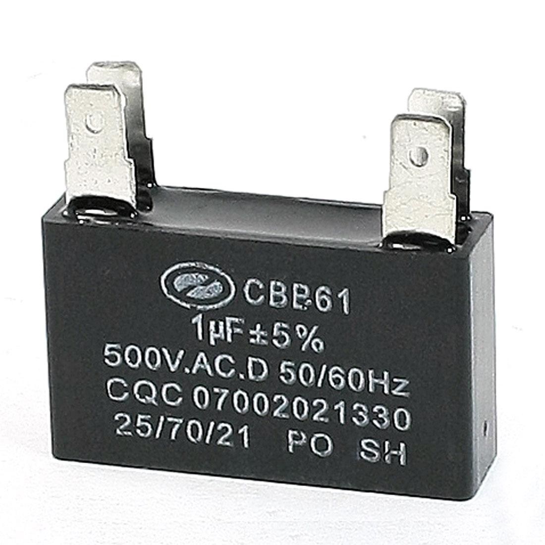 CBB61 Metalized Polypropylene Film Motor Run Capacitor AC 500V 1uF