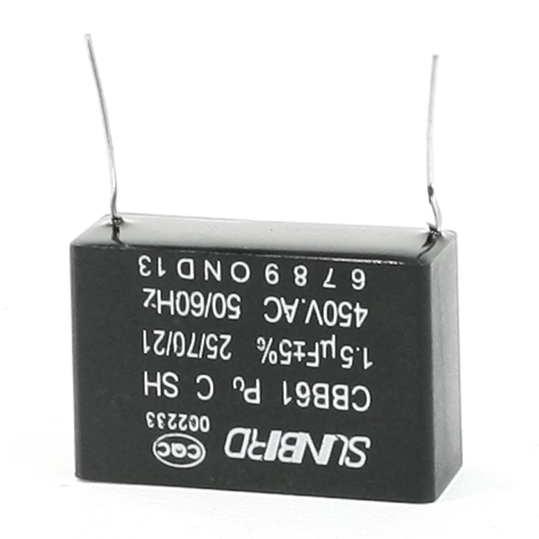 Air Conditioner Motor Run Capacitor 1.5uF 5% AC 450V 50/60 Hz