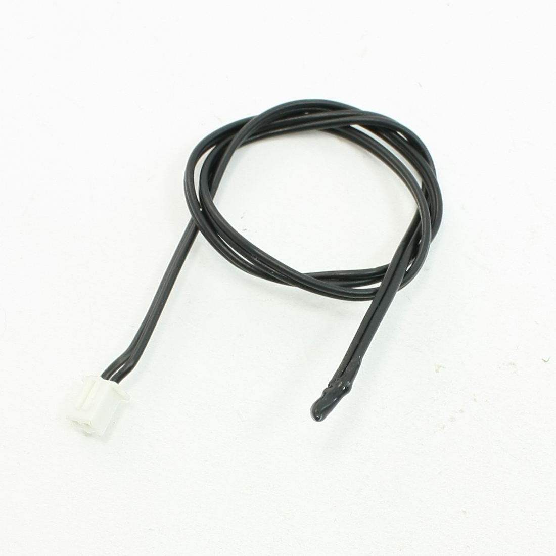 "15.7"" Long TC 10K 2 Pin Terminals Temperature Sensor Black for Air Conditioner"