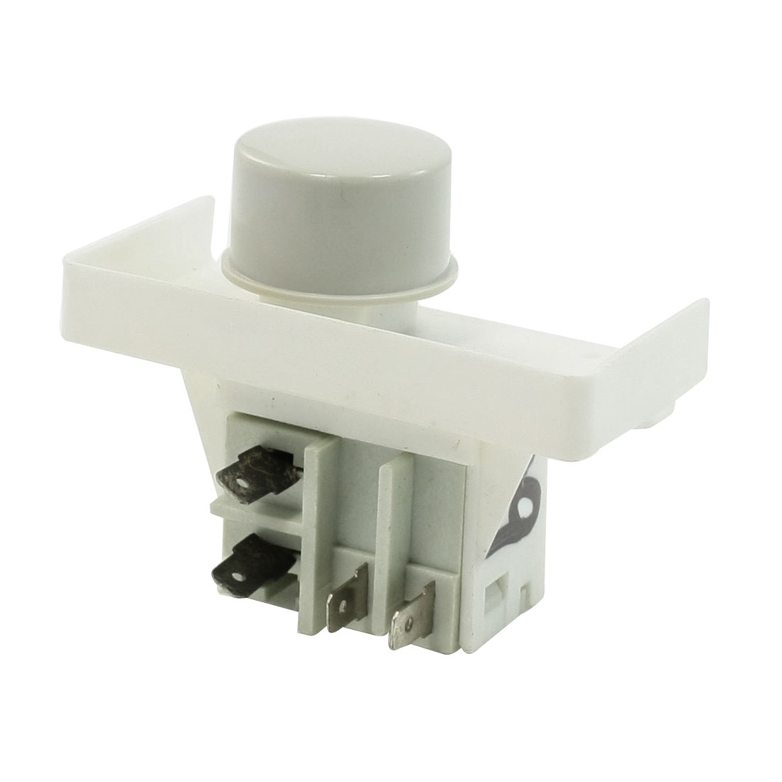 220VAC 5A 4 Pins Normal Open Self Locking Power Switch for Jinsong Washer