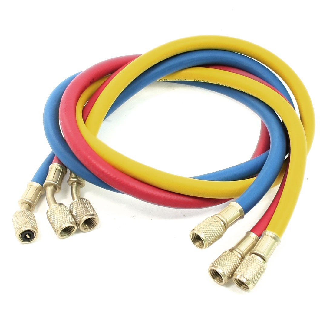 "0.47"" Dia Female to Male Metal Connector Refrigeration Charging Hoses"
