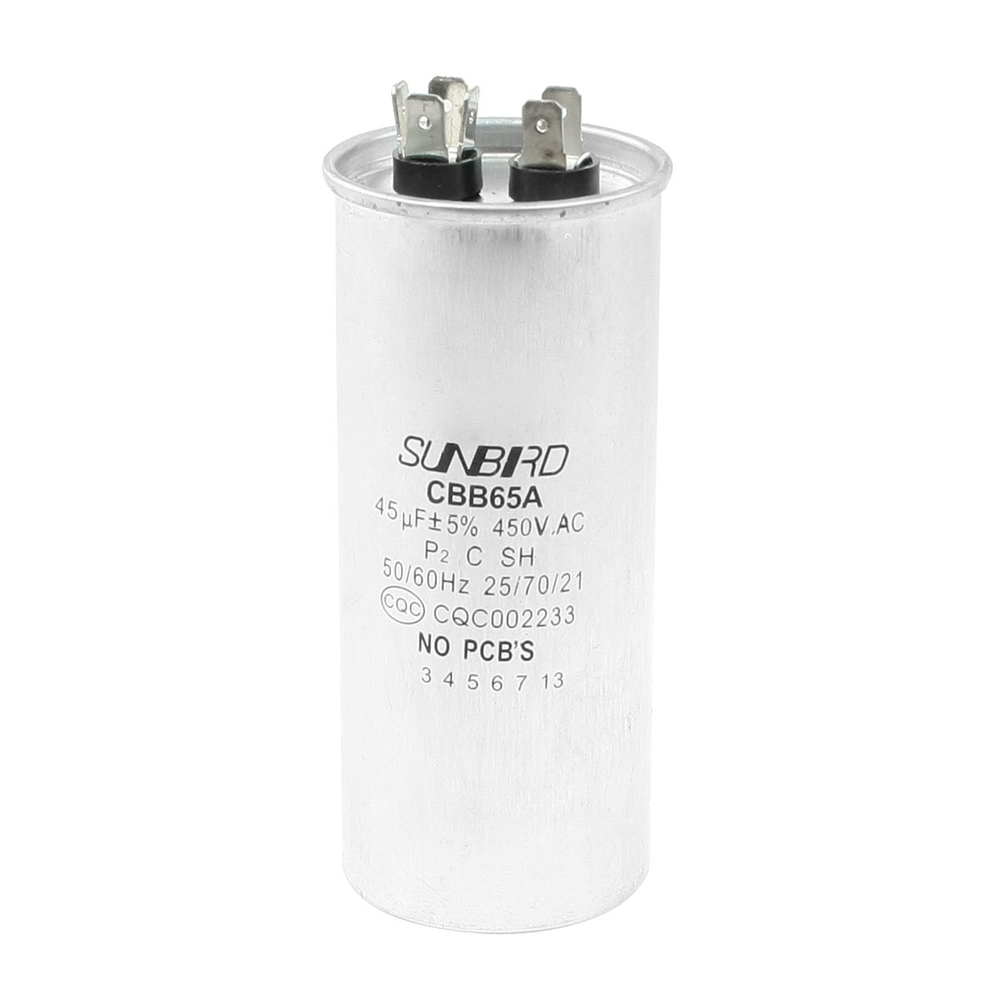 CBB65A AC 450V 45uF Non Polar Air Conditioner Motor Capacitor