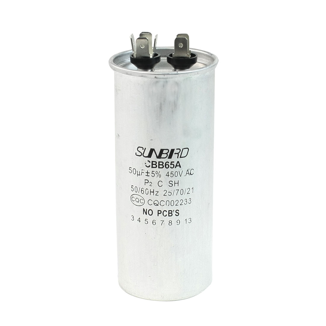 CBB65A AC 450V 50uF 50/60Hz Non Polar Air Conditioner Capacitor