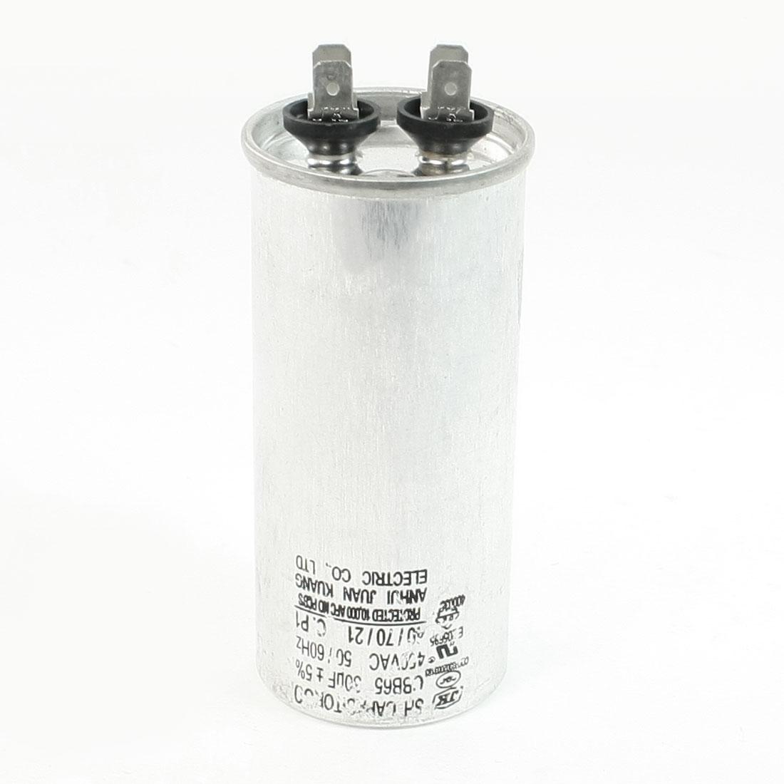 Polypropylene Film Lug Terminals Air Conditioner Motor Capacitor 450VAC 30uF