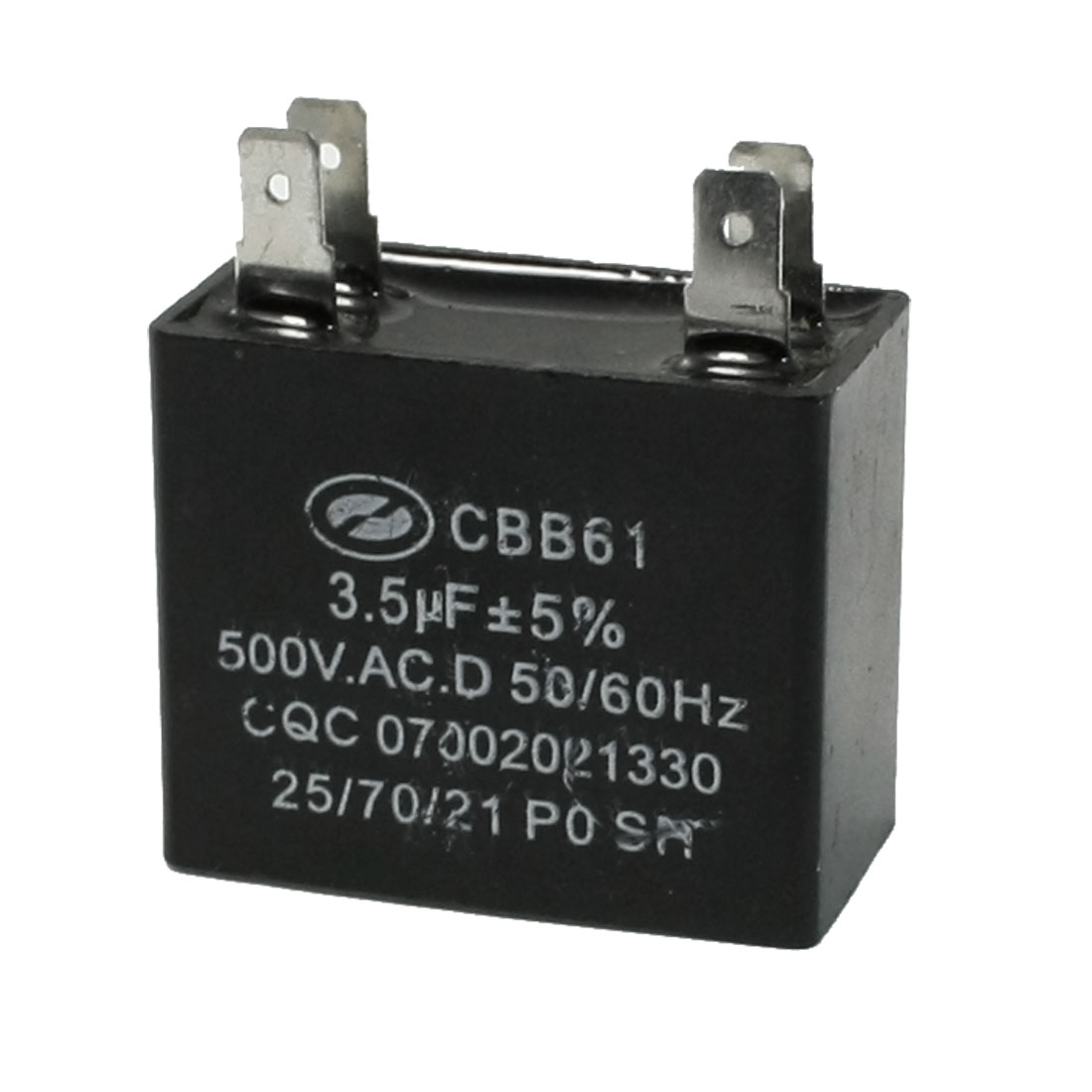 500V AC CBB61 3.5uF 5% Tolerance Polypropylene Film Motor Capacitor