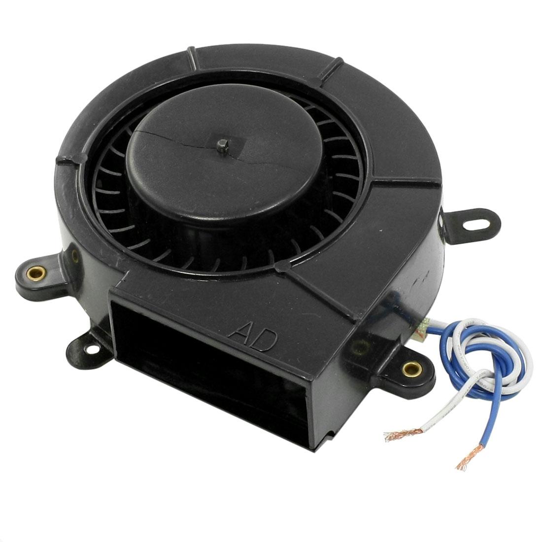 Black Metallic Housing Snail Shape Heater Blower Motor AC 110V 10W 2400RPM