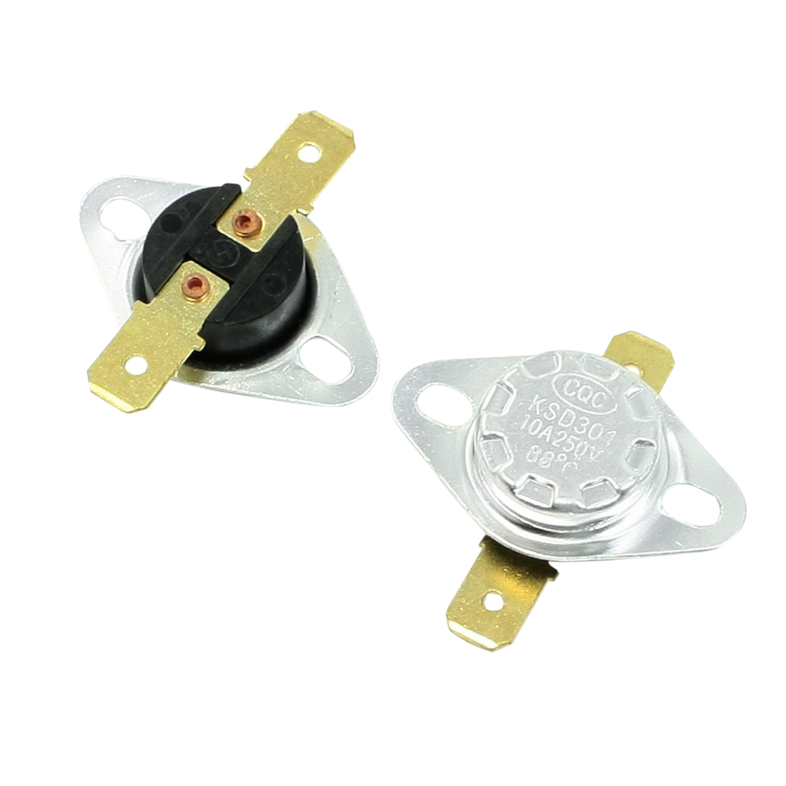 2 Pcs 250V 10A 88 Celsius 190F Temperature Controlled Switch KSD301