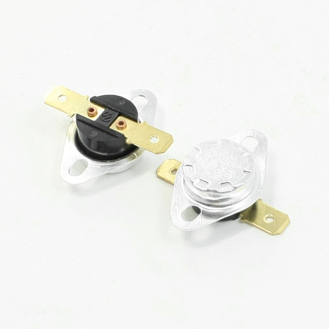 2 Pcs 250V 10A 98 Celsius 208.4F Normal Close Temperature Switch KSD301