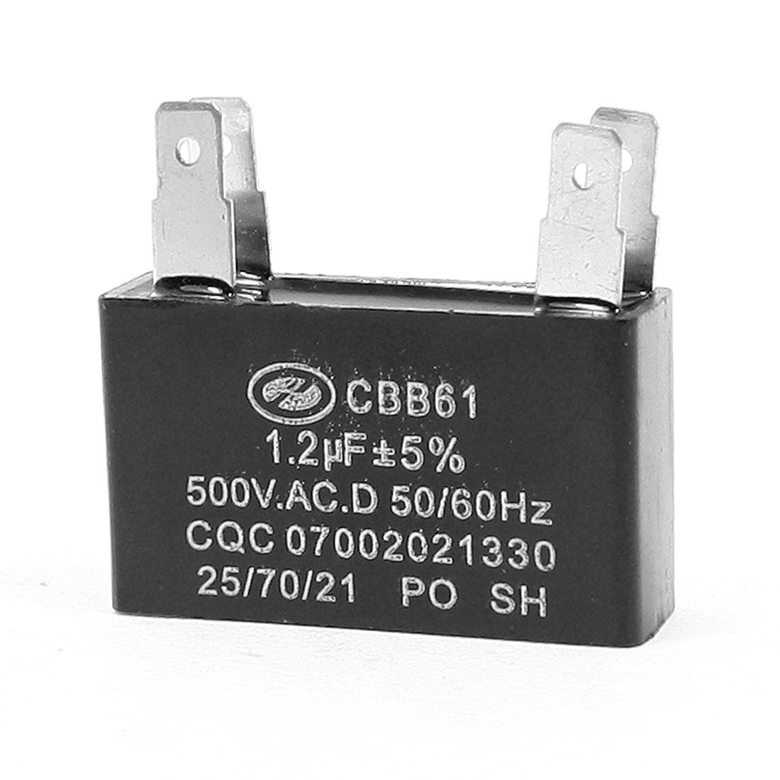 1.2uF MFD 500VACD 50/60Hz 4 Terminals Fan Capacitor CBB61