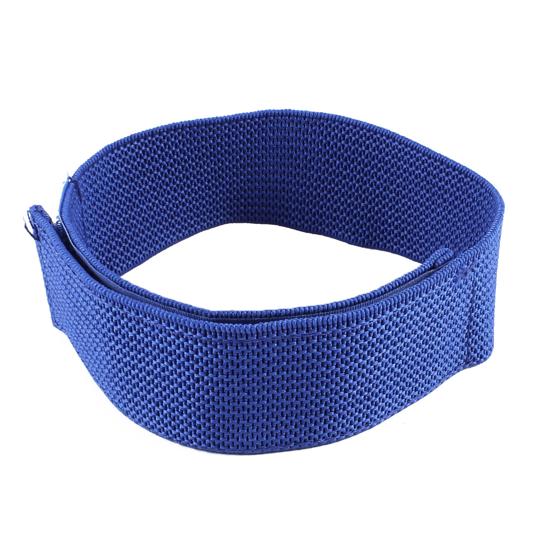 Textured Nonslip Elastic Fabric Strap 3 Legged Race Game Tie Blue