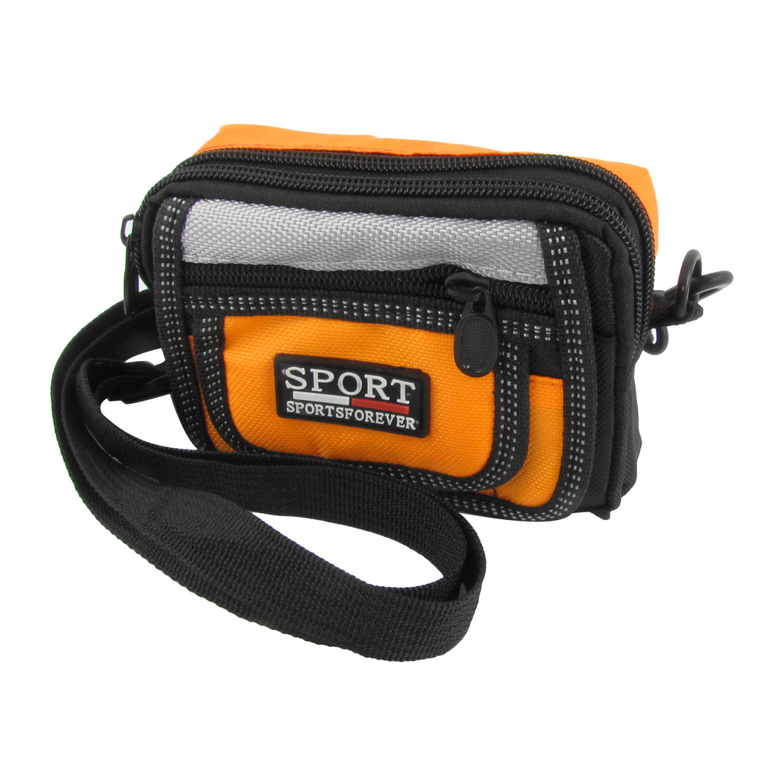 Portable Travel Digital Camera Zip Up Shoulder Pouch Waist Belt Bag Yellow Black