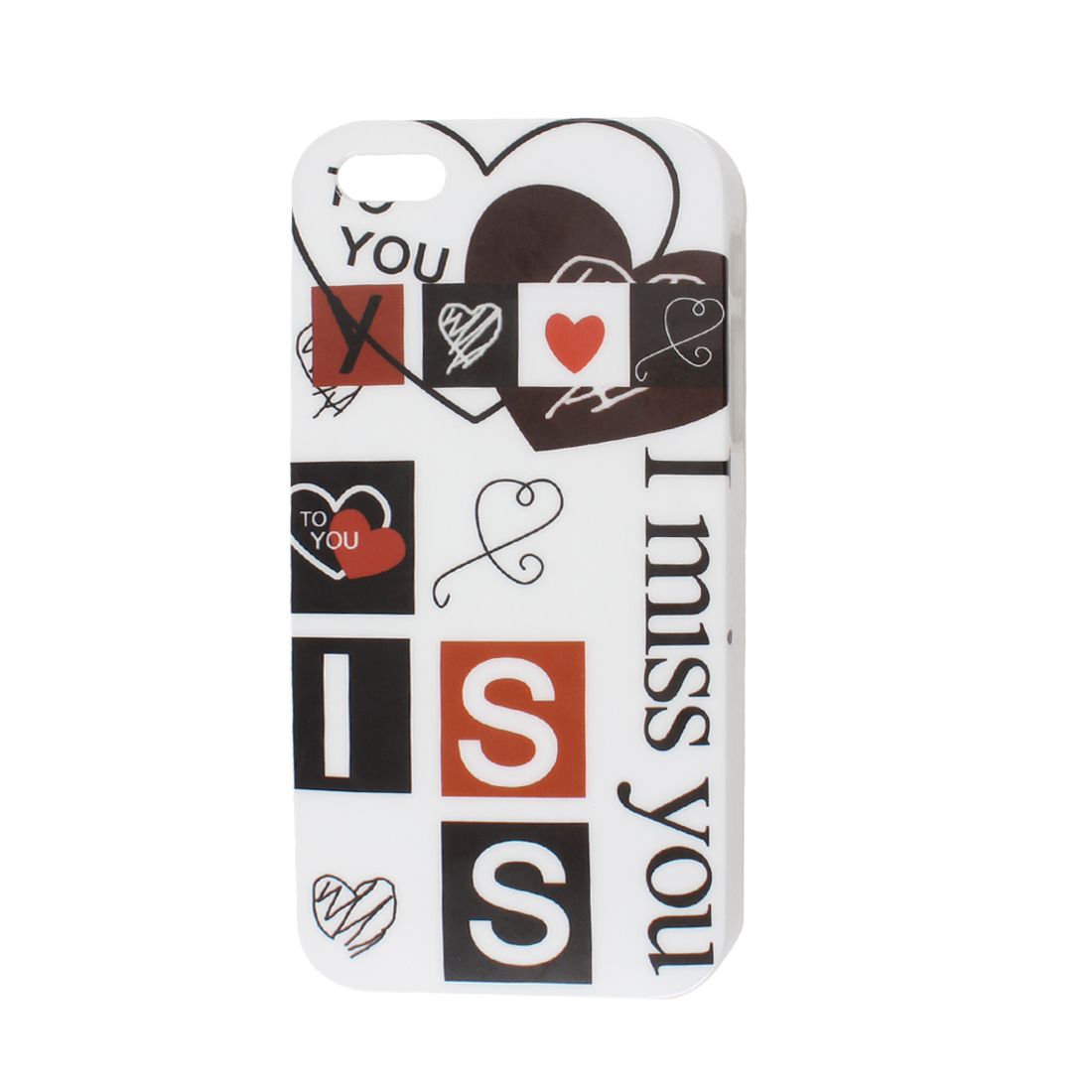 I Miss You Pattern White Background IMD Hard Back Case Cover for iPhone 5 5G