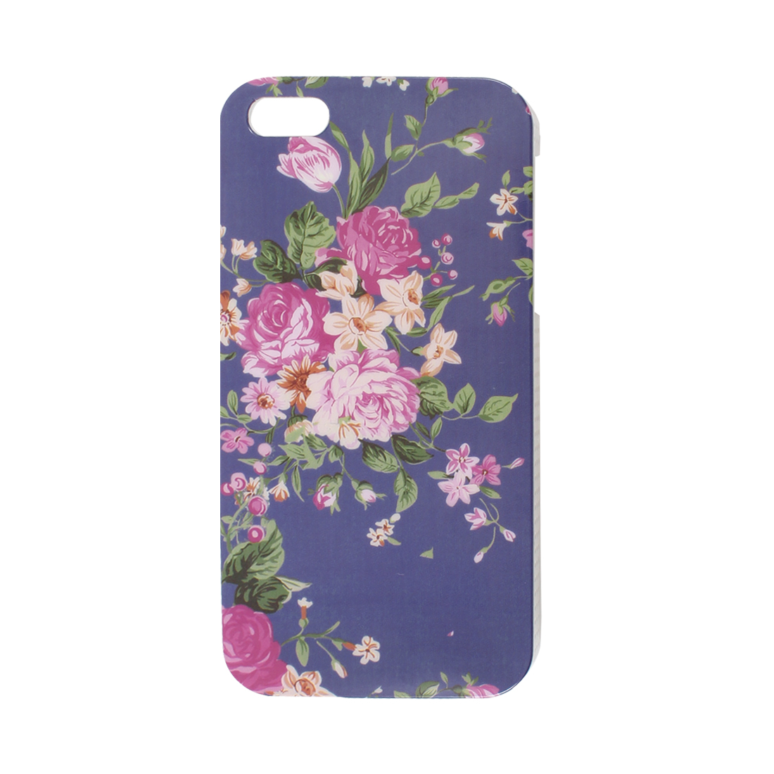 Floral Pattern Blue Background IMD Hard Plastic Back Case Cover for iPhone 5 5G