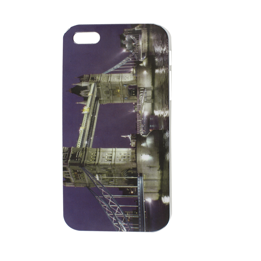 London Bridge Evening Pattern IMD Hard Back Case Cover Purple for iPhone 5 5G