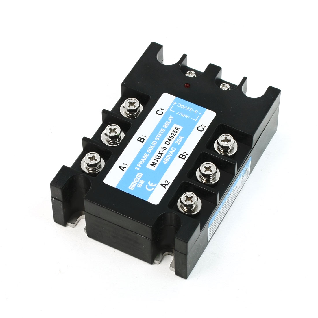 Black Retangle 3 Phase MJGX-3 D4825A Input 3-32DC Solid State Relay