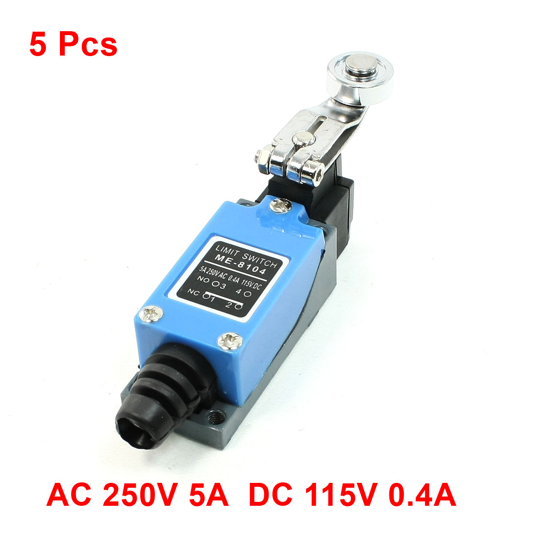 5 Pcs ME-8104 Rotary Metal Roller Arm Limit Switch for CNC Mill Plasma