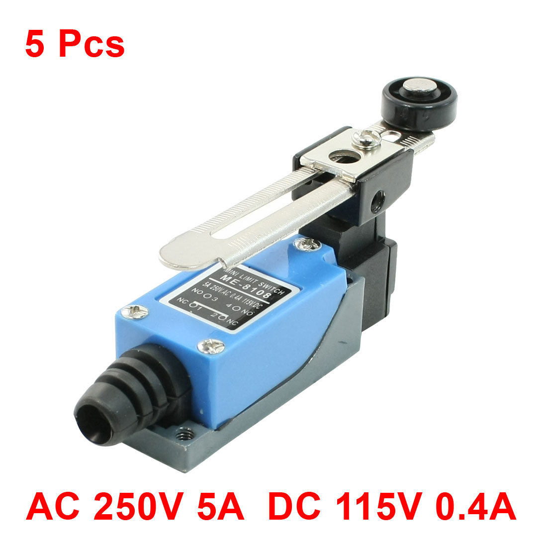 5 Pcs Momentary Rotary Roller Lever Arm Limit Switch for CNC Mill Plasma