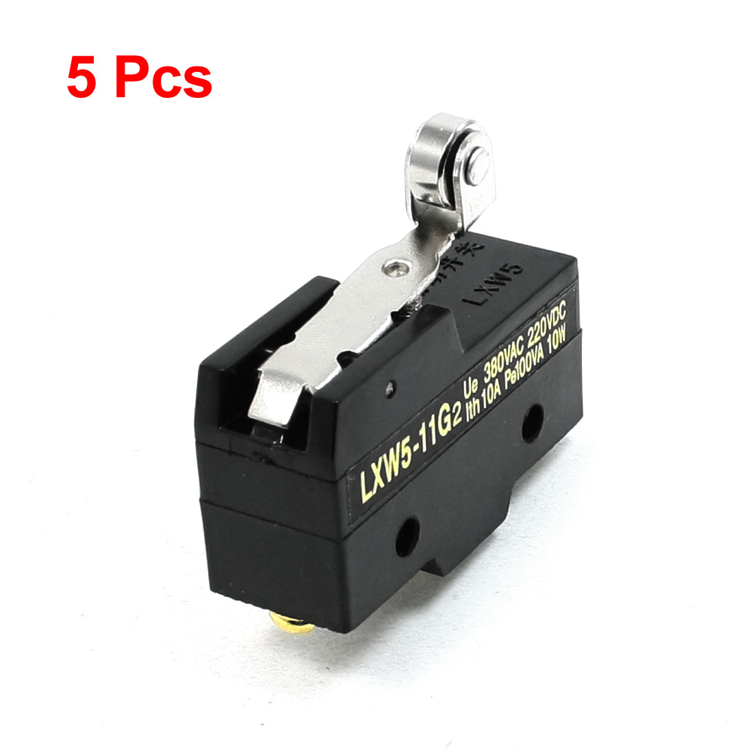 5 Pcs Short Hinge Roller Lever Momentary Micro Limit Switch LXW5-11G2