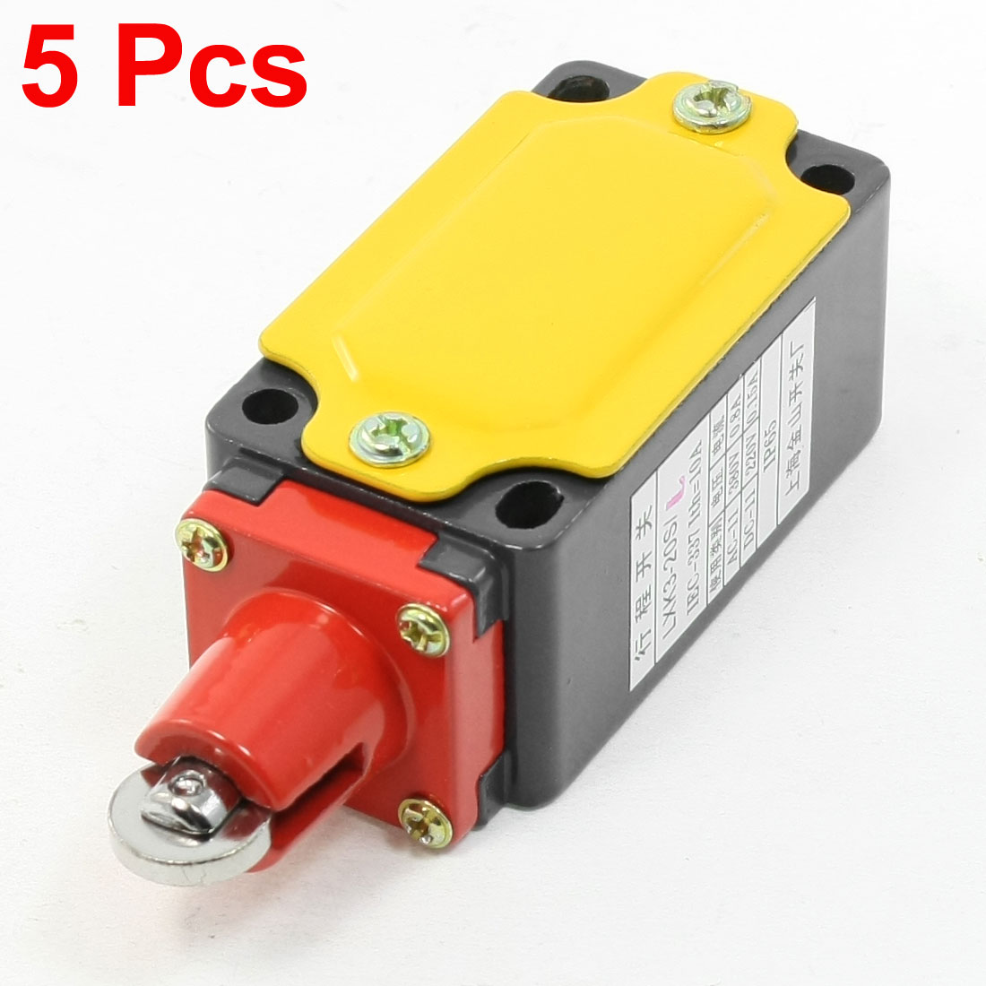 5 Pcs LXK3-20S/L Roller Plunger Momentary Limit Switch 0.8A/380VAC 0.15A/220VDC