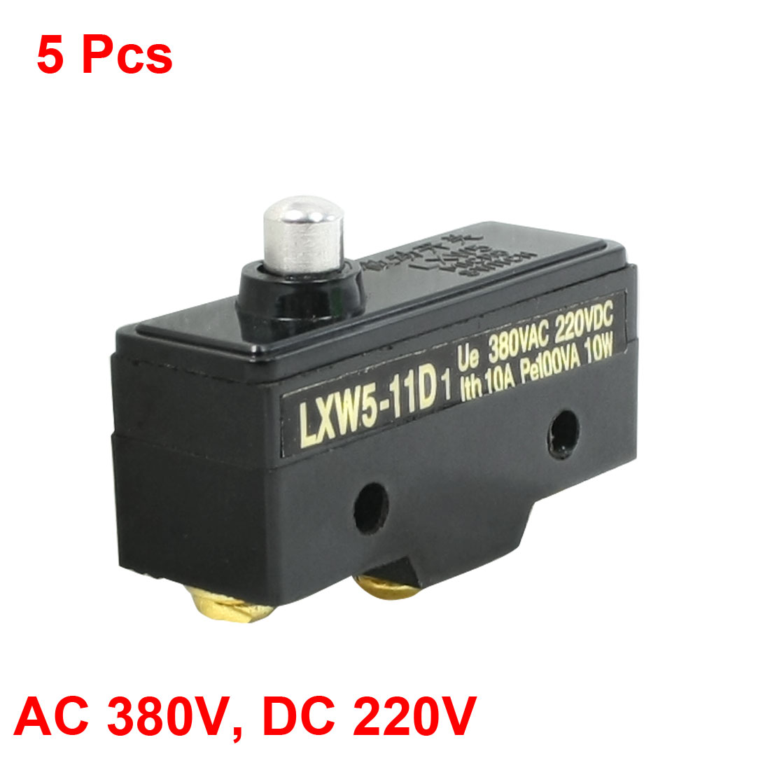 5 Pcs LXW5-11D1 Short Press Plunger Momentary Limit Micro Switch 380VAC 10A