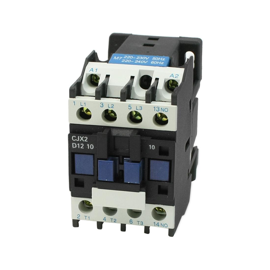 CJX2-12 220-230V 50Hz 3 Phase 1NO Motor Controller AC Contactor 660V 25A