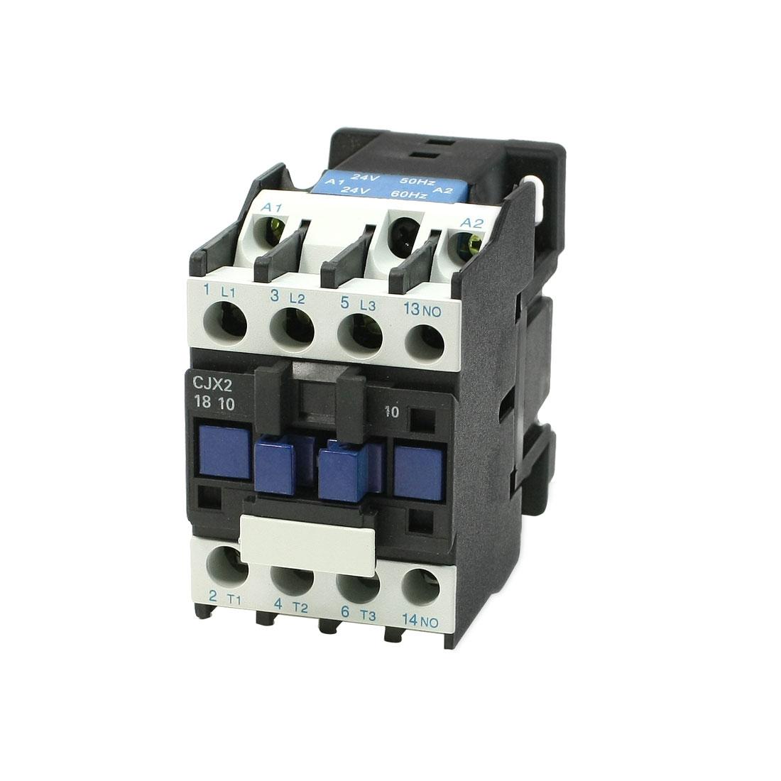 CJX2-18 3 Phase 1NO Motor Controller AC Contactor 24V 18A