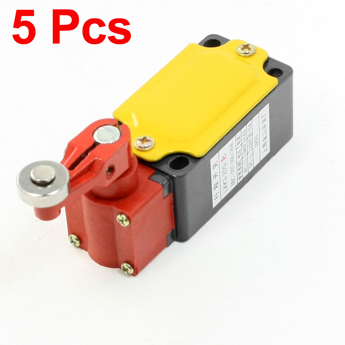 5 Pcs LXK3-20S/B Rotary Roller Lever Arm Ith 10A Enclosed Limit Switch