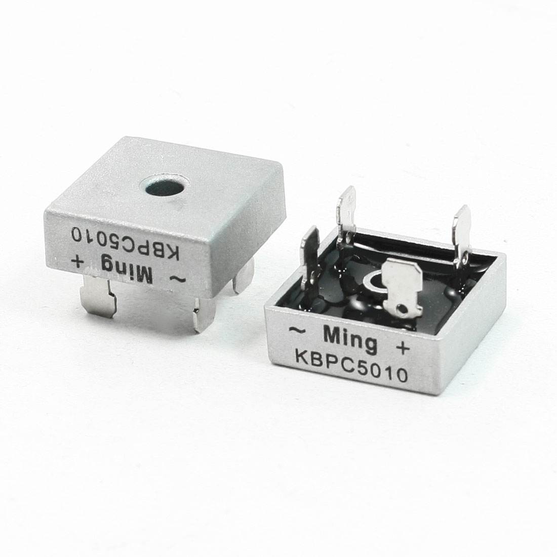 2 Pcs Ming KBPC5010 4 Pins 1000V 50A Bridge Rectifier