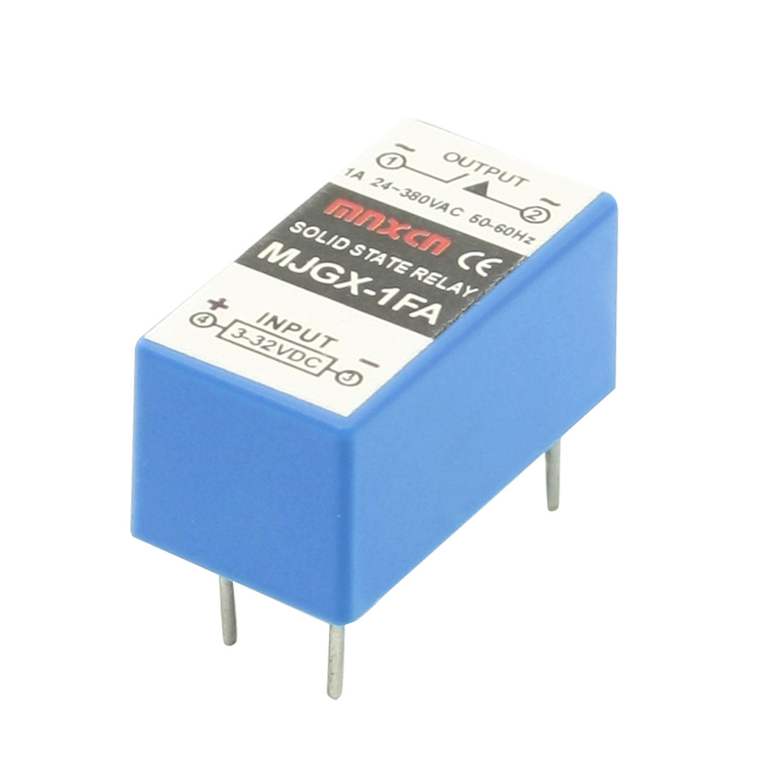 MJGX-1FA in 3-32V DC Out 1A 380V AC 4 Pin PCB Solid State Relay