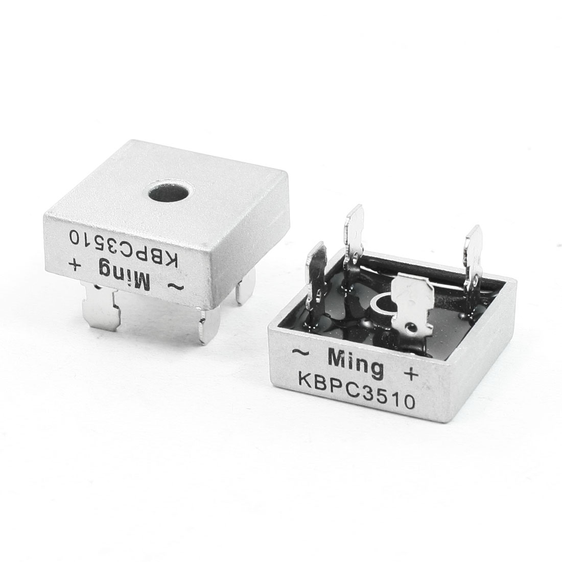 2 Pcs Silver Tone Ceramic Square 1000V 35A Bridge Rectifier