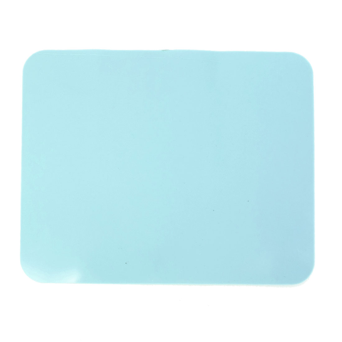 Soft Silicone Anti-skid Mouse Pad Mat Cyan for Notebook Computer