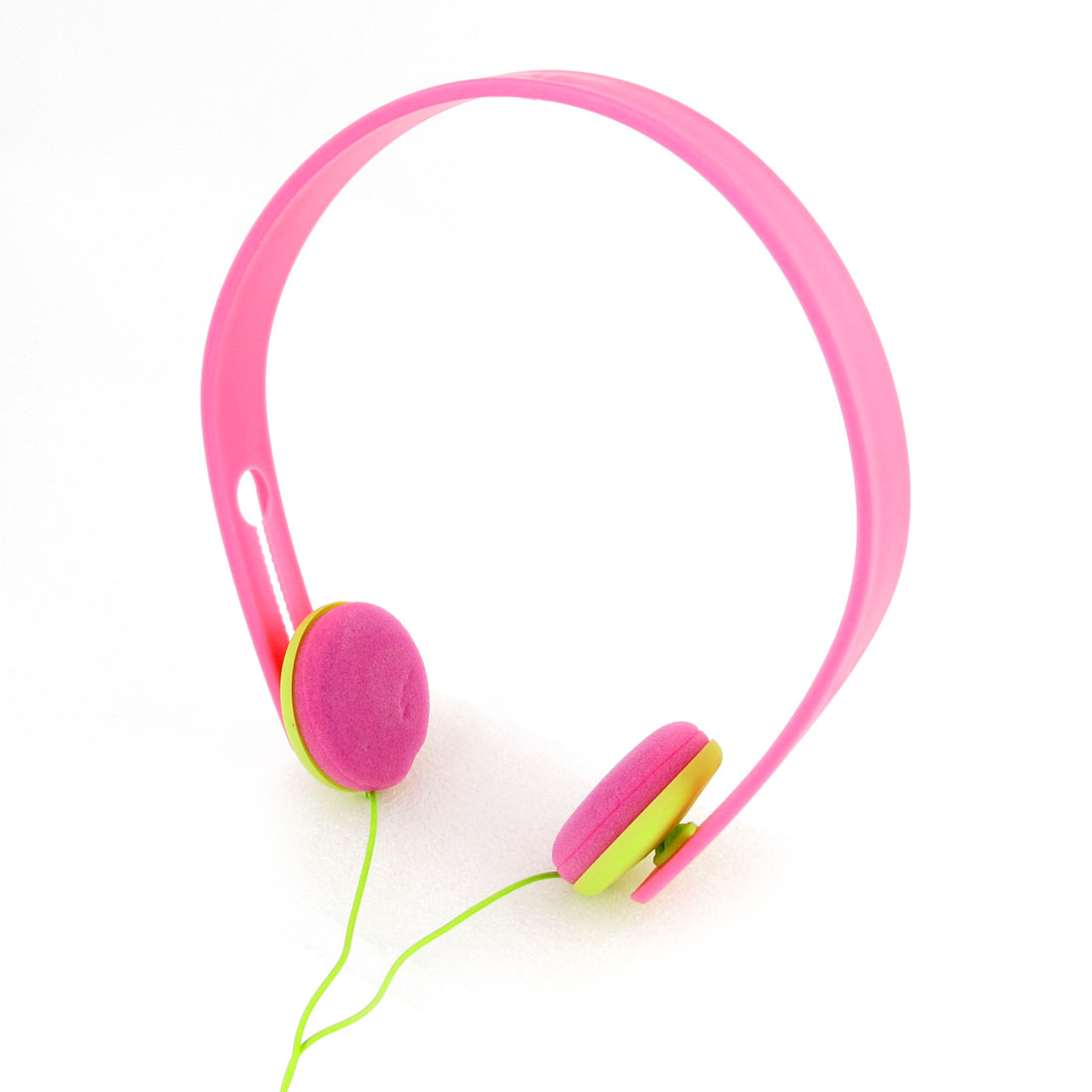 1.2M Long Cable 3.5mm Plug Earphone Headphone Pink for Laptop PC Computer