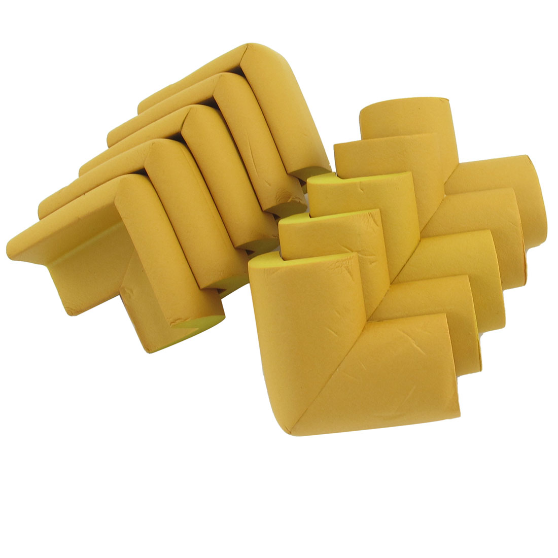 10 Pcs Khaki Foam Worktop Desk Table Pads Corner Protective Cushion + Stickers